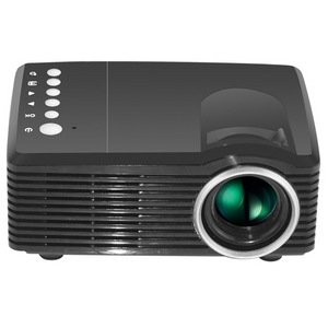Ancophoto MG300 600 Lumens 1920x1080 Home Theater LED Projector with Remote Control, Support AV & USB & TF