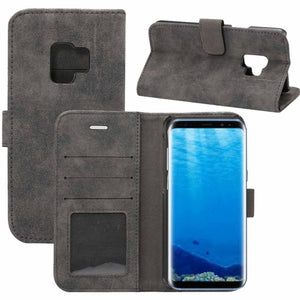 Horizontal Flip Leather Case with Holder & Card Slots & Wallet for Galaxy S9