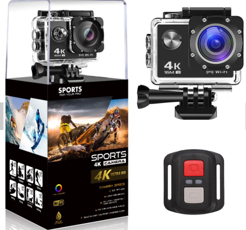 Waterproof 2017 Interpolated 4K Wifi Action Camera with go pro camera accessories