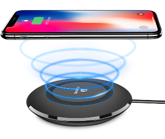 Wireless Charging Dock Pad FLOVEME LED Light Qi Wireless Charger