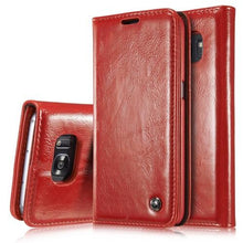 CaseMe Horizontal Flip Leather Case with Card Slots & Wallets for Samsung S7 Edge