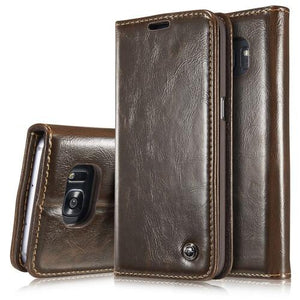 CaseMe Horizontal Flip Leather Case with Card Slots & Wallets for Samsung S8+