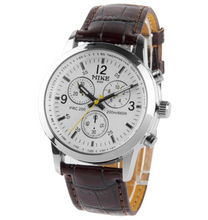 White Dial Men Quartz Leather Watch / Couple Watch