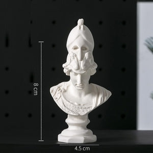 David Venus Athena Sona Goddess Bust Art Sculpture Resin Crafts Decorations For Home Mini Gypsum Statue Art Material R3230