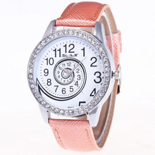 Luxury Brand 2017 Women Quartz Watch Leather Band Rhinestone Wrist Watch Vortex Parten women watches white 6 Colors bracelet
