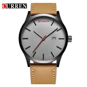CURREN Automatic Leather Men's Watch w/ Authentic Leather