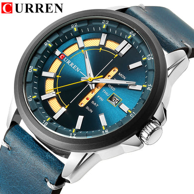 CURREN Aquamarine Automatic Quartz Men's Watch