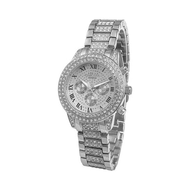 CONTENA Automatic Stainless Steel Rhinestone Women's Wristwatch