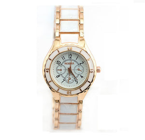 Rose Gold Watch Full Steel Women'S Watches Ladies Wrist Watch