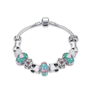 Cotton Candy Love Pandora Inspired Bracelet Made with Swarovski Elements
