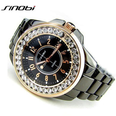 SINOBI Stainless Steel Quartz Automatic Watch.