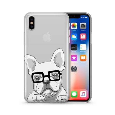 The Frenchie - Clear TPU iPhone Case / Samsung Case Phone Cover