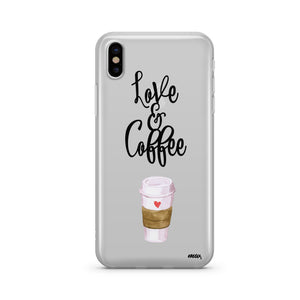 Love and Coffee - Clear TPU iPhone Case / Samsung Case Phone Cover