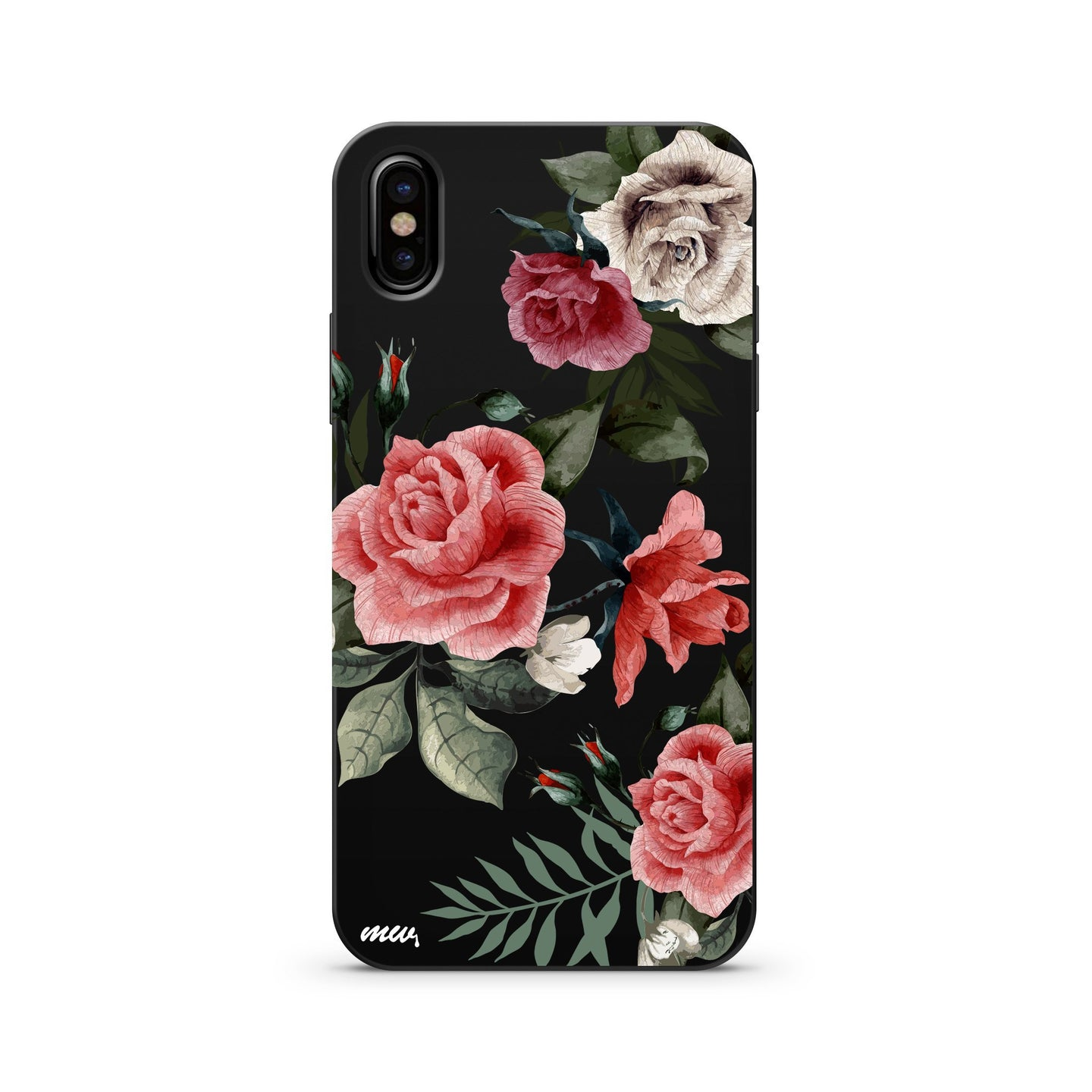 Black Wood Printed iPhone Case / Samsung Case Phone Cover - Petals