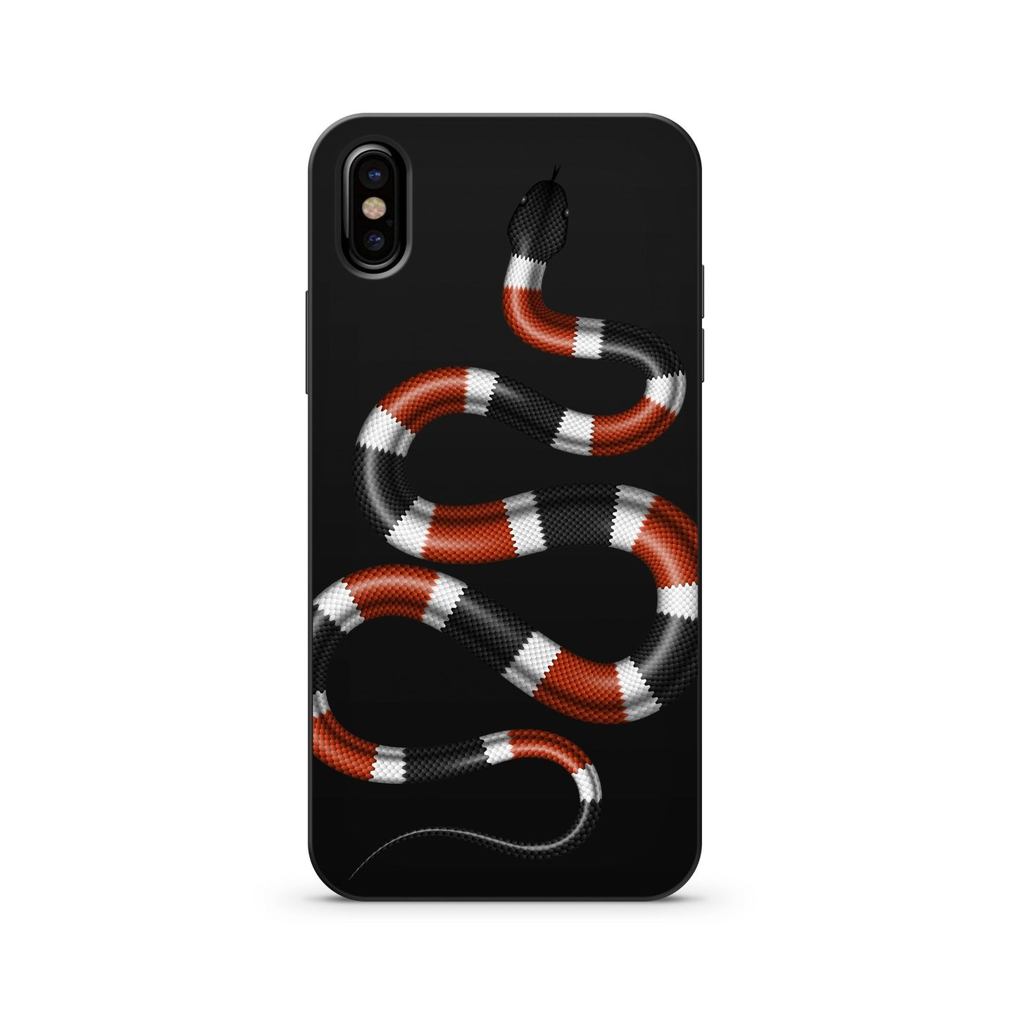 Black Wood Coral Snake iPhone X Case
