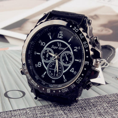 Fashion Buckle Dial Sport Quartz Watch Design Pointer Round Men