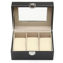 Rectangular 3 Grid Watch Box Display Collection Case Watches Boxes Holder Organizer New Metal Buckle Jewelry Gift Box