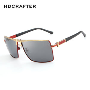 "HDCRAFTER Men's ""Champ"" Square Frame Sunglasses red - Frames Are Forever"