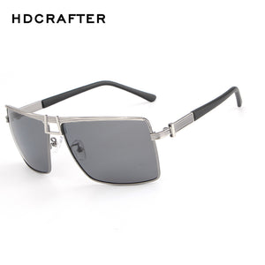 "HDCRAFTER Men's ""Champ"" Square Frame Sunglasses grey"