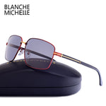 Blanche Michelle Men's Rectangle Sunglasses