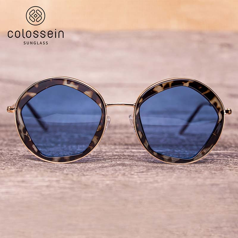 COLOSSEIN Women's Clamsell Frame Sunglasses