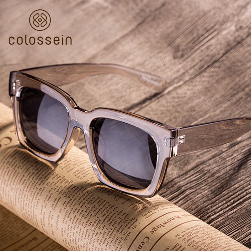 COLOSSEIN 2018 Women's Summer Fashion Clear Designer Sunglasses - Frames Are Forever
