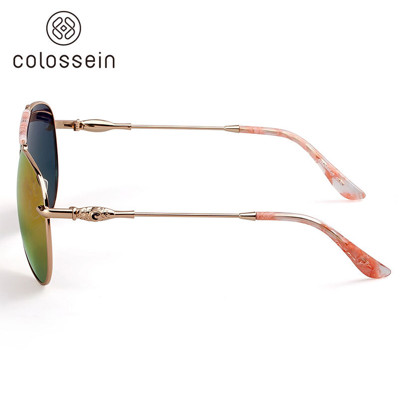 "COLOSSEIN Women's Vintage ""Pretty Clouds"" Aviator Sunglasses - Frames Are Forever"