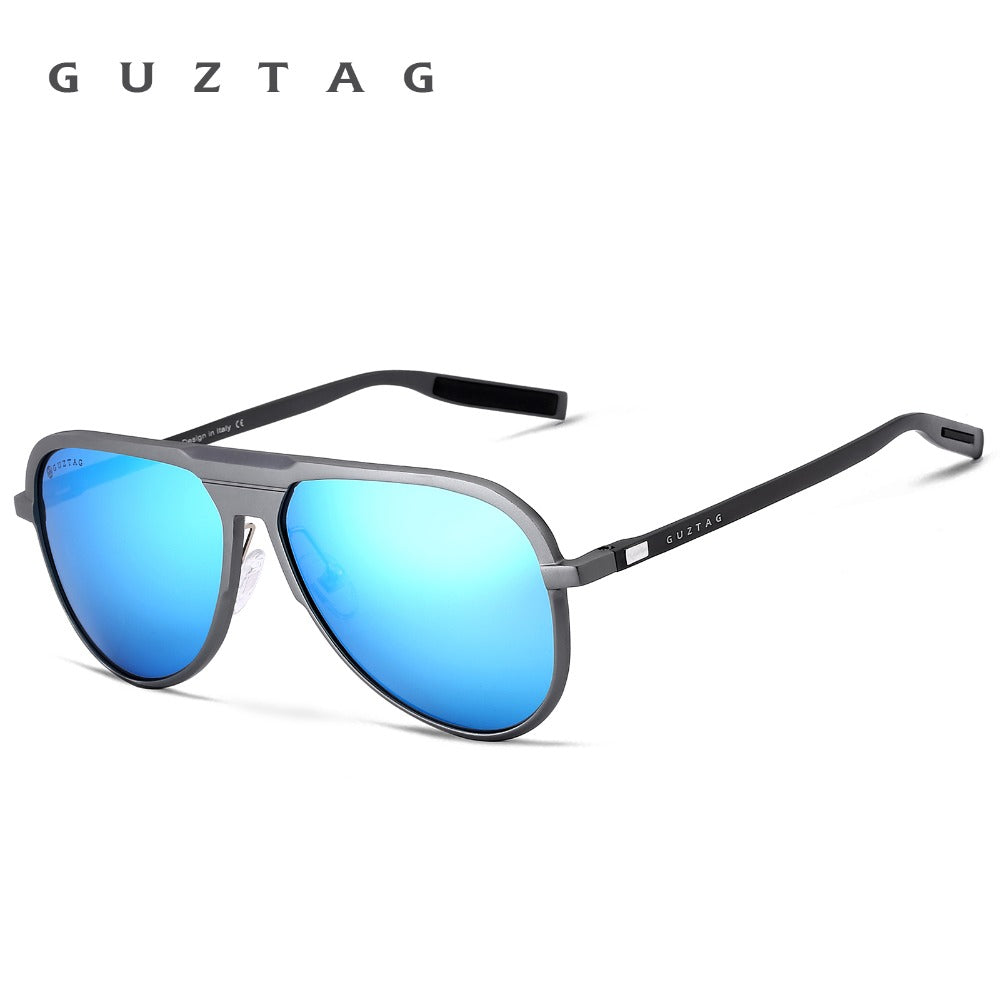 "GUZTAG Men's ""Top Down"" Aluminum Sunglasses HD Polarized - Frames Are Forever"
