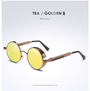 "Metal Gold/Silver ""Time Frame"" Sunglasses"
