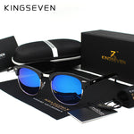 KINGSEVEN Men's Black Polarized Designer Sunglasses - Frames Are Forever
