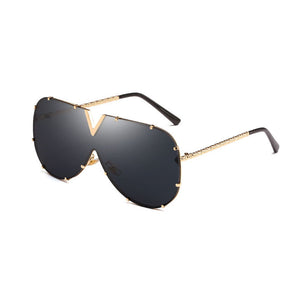 "New Women's ""Siamese Ocean"" Gold Frame Sunglasses"