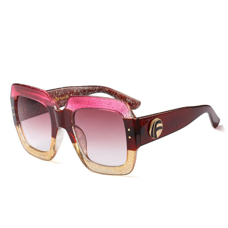 "ROYAL GIRL Women's Over Size ""Palm Trees"" Sunglasses - Frames Are Forever"
