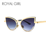 ROYAL GIRL Women's Alloy Cat Eye Sunglasses - Frames Are Forever