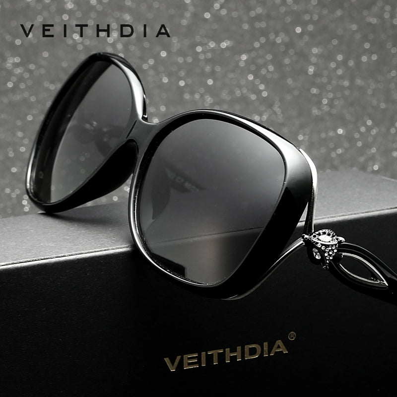 "VEITHDIA Women's Designer ""Sleek"" Big Frame Sunglasses - Frames Are Forever"