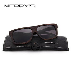 "MERRY'S Men's Wooden ""Coffee"" Hand Made Sunglasses - Frames Are Forever"