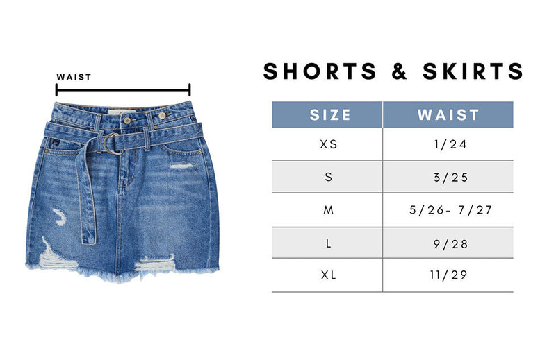 No More Wishing Denim Shorts