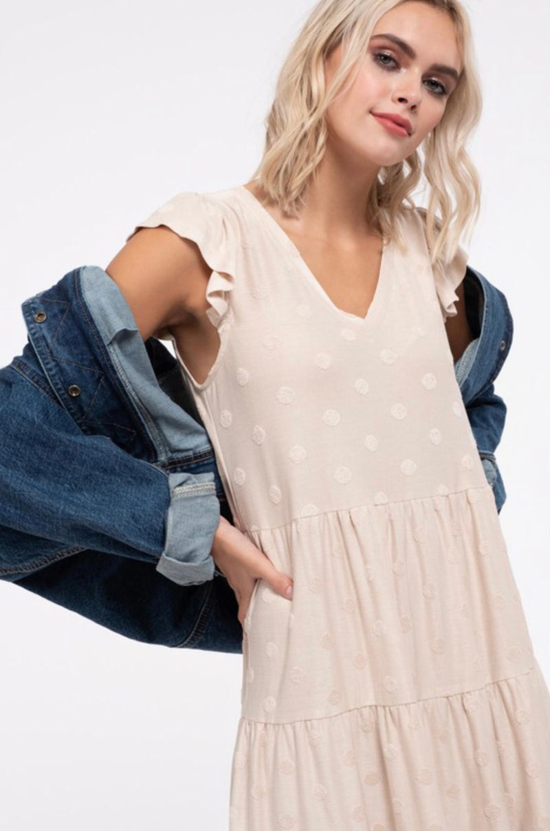 Find Your Way Tiered Dress