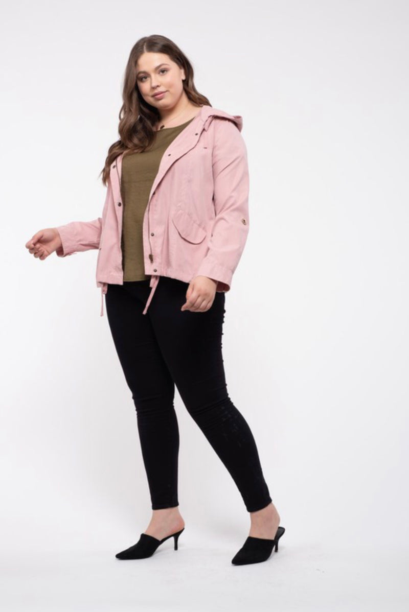 Evermore Button Up Curvy Jacket