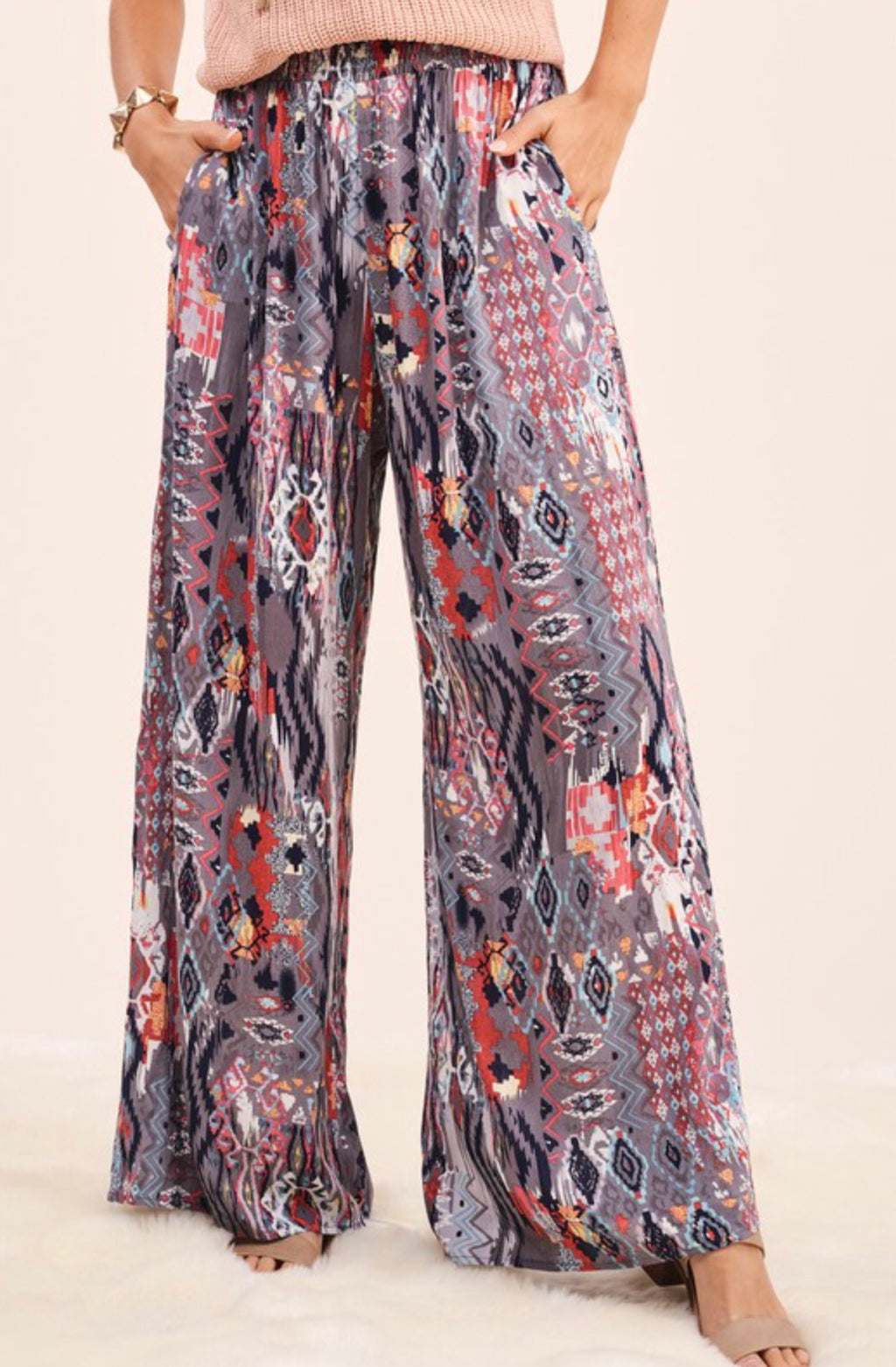 Wild About You Smoke Boho Pants