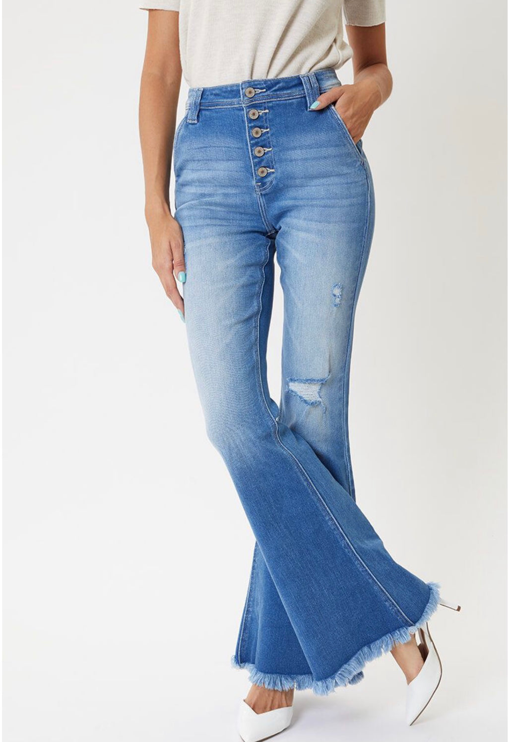 Gigi Medium Wash Flare Jeans