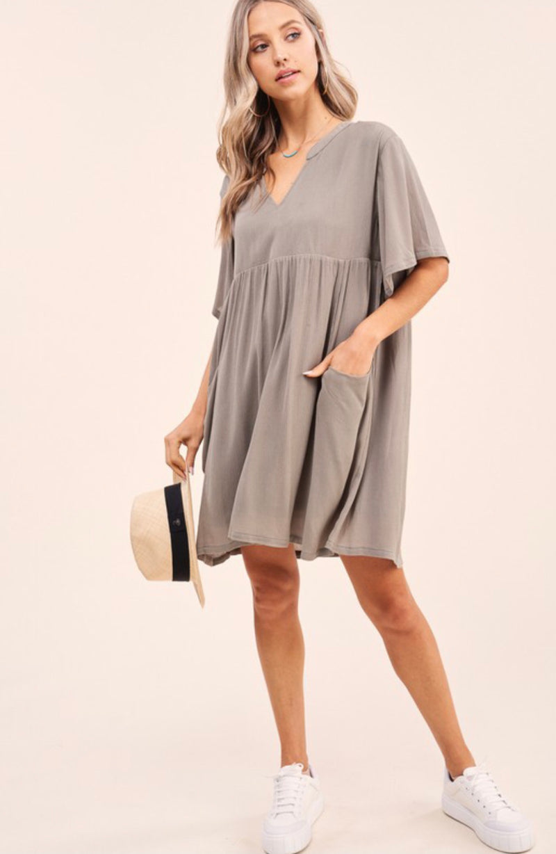 Leave It Behind Olive Dress