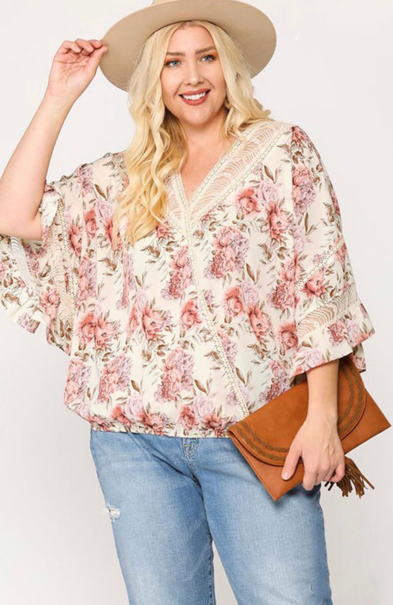 Tell Me Something Floral Top