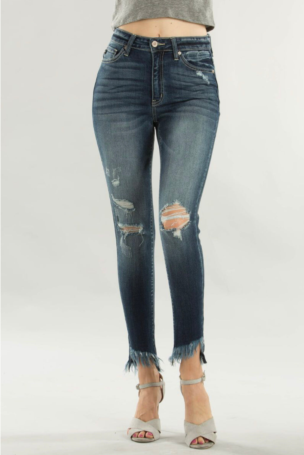 Kylie Distressed Dark Jeans