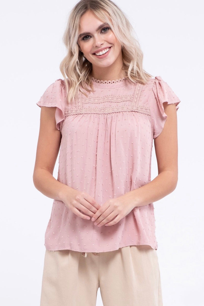 Cute As Can Be Pink Top