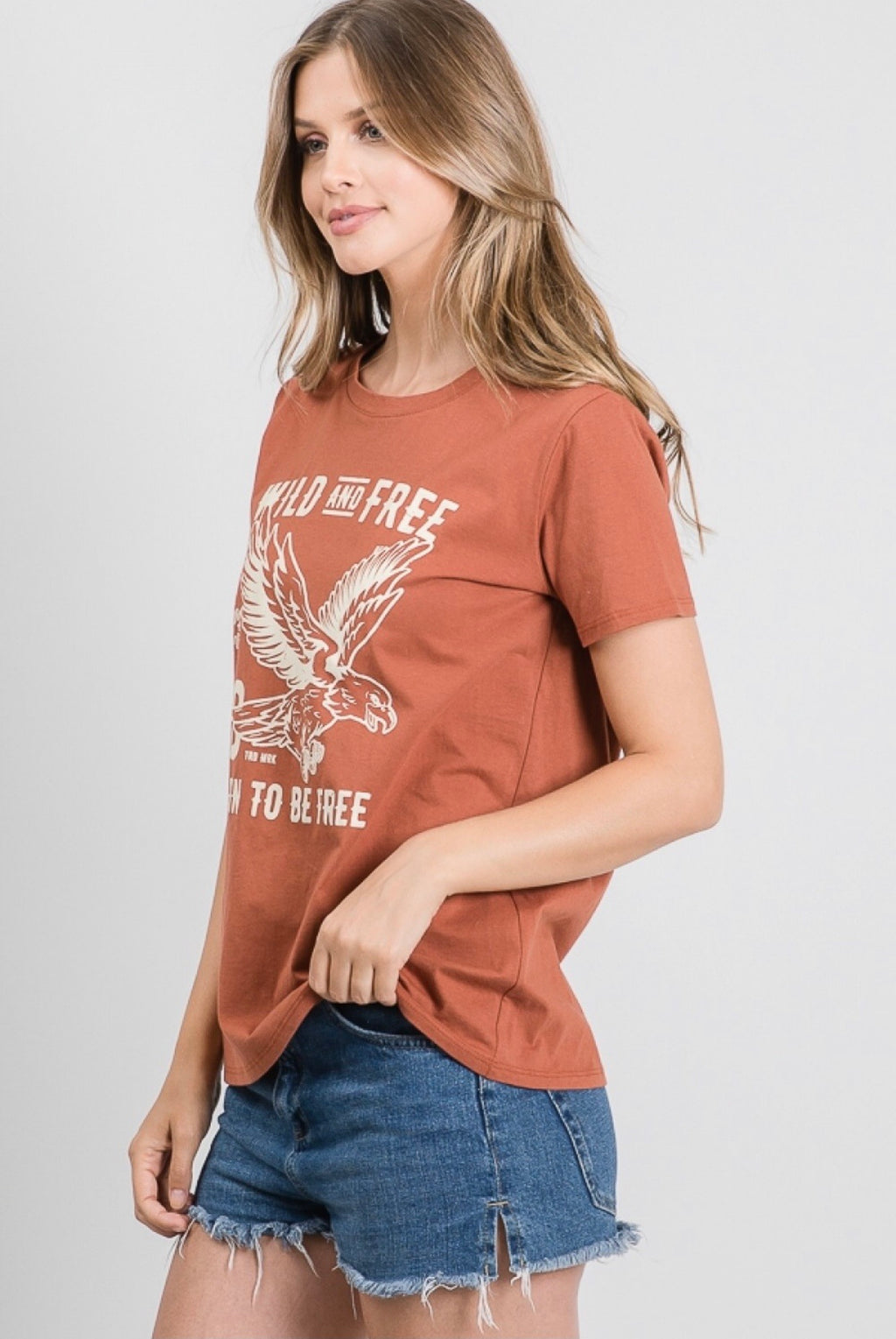 Wild and Free Eagle Graphic Tee