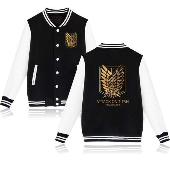 Attack On Titan Recon Corps Baseball Jacket - Aniflux