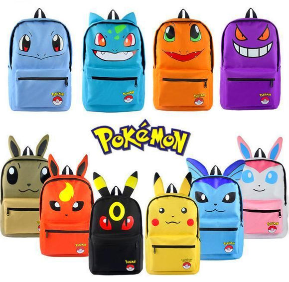 Pokemon -  Pikachu/Bulbasaur/Eevee Family Backpack - Aniflux