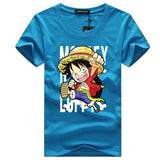 One Piece T shirt 2017 Fashion Japanese Anime Clothing Luffy Cotton T-shirt For Man/Women brand clothes Tee Shirts - Aniflux