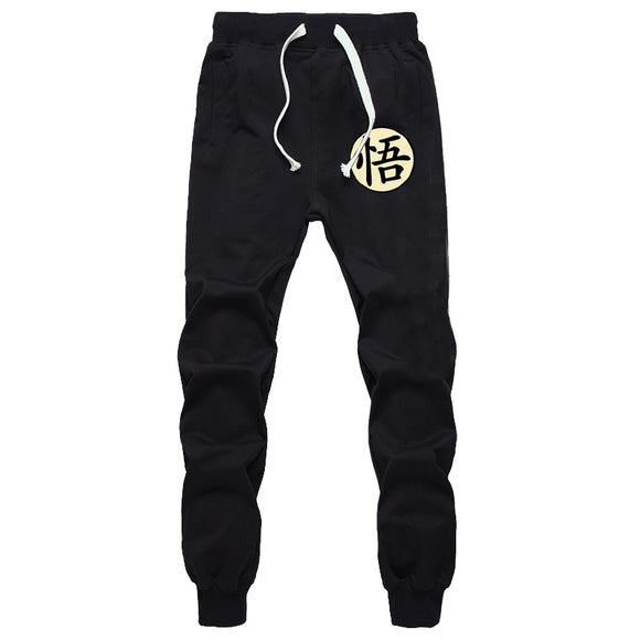 Casual Funny Print Dragon Ball Goku Mens Pants Cotton Autumn Winter Gray Men Joggers Sweatpants Plus Size Black Trouser pantalon - Aniflux