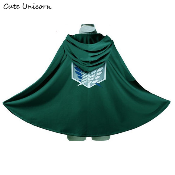 SALE Attack on Titan Cloak Shingeki no Kyojin Scouting Legion Cosplay Costume anime cosplay green Cape mens clothes - Aniflux